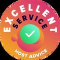 """Našli sme si čas, aby sme anonymne skontrolovali služby zákazníkom každej spoločnosti. Ocenenie """"Odznak výnimočnosti"""" bolo udelené hostingovým spoločnostiam, ktoré splnili vysoké štandardy HostAdvice v oblasti služieb zákazníkom, čo znamená, že poskytli rýchlu, efektívnu, skúsenú a predovšetkým užitočnú podporu."""