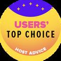 Udelené spoločnostiam v kategórii top 10 najlepšie webhostingové spoločnosti s najvyšším hodnotením používateľov.